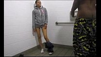 black twins fuck in a fastfood restroom watch more vidz like this at fxvidz.net