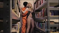 librarian forced to fuck with prisoner